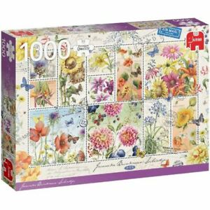 Jumbo Summer Flower Stamps 1000pc Puzzle (New)