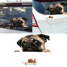 Novelty 3D Pug Dogs Watch Snail Car Window Decal Pet Home Bathroom Sticker Decor