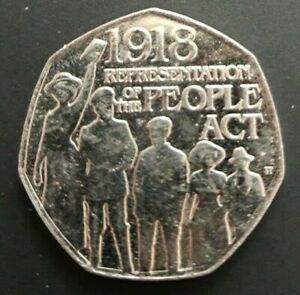 2018 50p coin REPRESENTATION OF THE PEOPLE ACT {FREE DELIVERY}