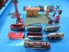 Prewar Marx O Gauge Tin Litho Glendale Depot Train Playset w/ Accessories VG 193