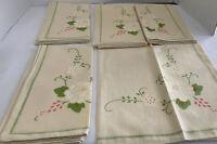 vintage linen Napkins lot of 5