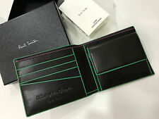 Paul Smith Wallet with COIN POUCH 4x Credit / Business Card HANDCRAFTED IN SPAIN