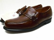 Mason Brown Leather Slip-On Shoes Made in USA Size 11 1/2 D (New with tags)