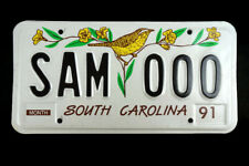 1991 South Carolina Sample License Plate #SAM 000 Bird Graphic MINT