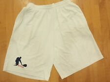 Racquetball Shorts DryFit with 2 side pockets White: Mens Size Large