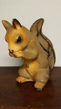 "LARGE Vintage Squirrel Chalk Bank - 13"" tall"