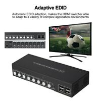 8/4/2 Port 4K KVM HDMI Switch HDMI with Audio HDR USB 2.0 Auto-Scan IR Hot Key