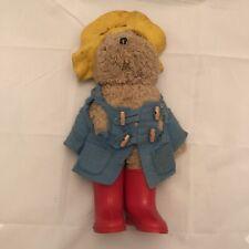 "VINTAGE ~ 17"" PADDINGTON TEDDY BEAR TOYS ENGLAND BLUE COAT RED BOOTS"