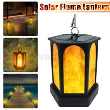 96LED Solar Flame Lamp Waterproof Outdoor Hanging Lantern Garden Landscape Light
