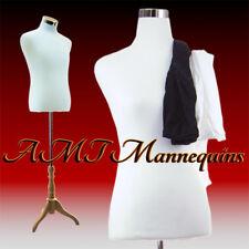 Male manikin torso +stand+2 covers, Half body, Dress form counter top - Hmf-102
