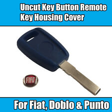 1x Uncut Key Blade For Fiat Doblo Punto Bravo Button Remote Key Housing Cover