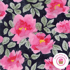 SATURDAY MORNING Black Pink Floral 30440 15 BASIC GREY Moda QUILT FABRIC