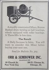 1925 AD(K5)~ORR & SEMBOWER CO. NYC. CONSTRUCTION CEMENT MIXER
