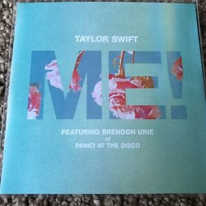 """TAYLOR SWIFT & BRENDON URIE (PANIC AT THE DISCO) """"ME!"""" 7 REMIX NEW PROMO CD"""