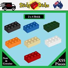 Bulk Discount!! Genuine Lego 2x4 Bricks Select Your Colour, Pack of 55