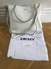 DKNY QUILTED LEATHER HAND BAG Cream New RRP £295