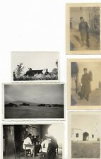 Lot 6 photos, militaires, Algérie, Sétif, Aïn Arnat, Aviation, désert, bédouins