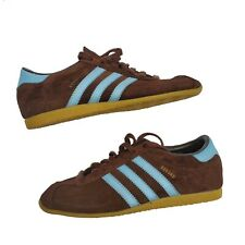 Vintage Adidas Rekord Brown Suede Blue Striped