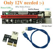 USB PCI-E Express SATA 16 Extender Riser Adapter Kabel ETH GPU Mining nVidia AMD