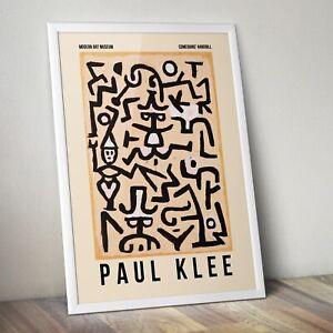 Paul Klee Art Print, Comedians' Handbill by Paul Klee Print, Abstract Art Print