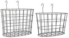 KORB DRAHTKORB MIT HOLZGRIFF OVAL METALL BRAUN KÜCHE GARTEN BAD  18 CM Home, Furniture & DIY Home Storage Baskets