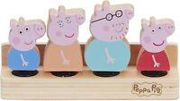 Peppa Pig de Peppa Madera Familia Figuras Set De 4 & Madera Base Figura Juguete