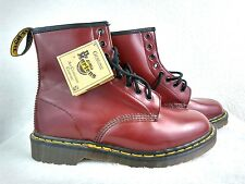Dr Martens Boots Sz 8 Cherry Red Smooth Air Wair 8 Eyelet Leather New Euro 38.5