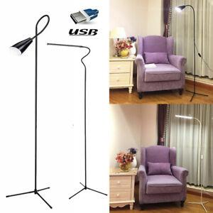 Dimmable Floor Standing Light LED Reading Lamp Adjustable Table Desk Lighting UK