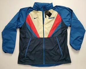 Nike Men's Club America Windbreaker Blue Full Zip Jacket  CI9180 457  Size XXL