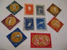 Rumänien - Romania,1961 Olympische Goldmedalliengewinner,Satz 10 Werte Falzreste