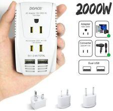 2000W Travel Voltage Converter for Hair Dryer Straightener