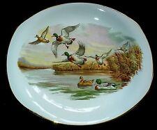 Burgess & Leigh Burleigh Ware Broadhurst Bros Ducks in Flight 11 in Oval Plate