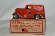 1930's Triang Minic Ford Royal Mail Van with Original Box