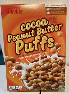 Milleville Cocoa Peanut Butter Puffs Cereal 13oz NEW
