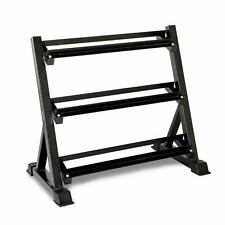 Heavy Duty 3 Tier Steel Dumbbell Rack Weight Storage Durable Strength Training