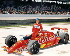 MARIO ANDRETTI 1987 INDY 500 AUTO RACING LOLA CHEVROLET 8X10 PHOTO