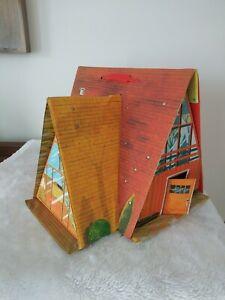 Vintage Ideal? Vinyl Retro Dollhouse Pretend Play Set Play House Toy Accessories