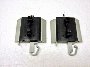 Lot of 2 Bachmann E-Z Track Modified Lighted Bumpers, Gray Roadbed
