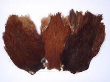 Naturale Marrone Addio nubilato mantella Grado A,materiali per mosche da pesca,