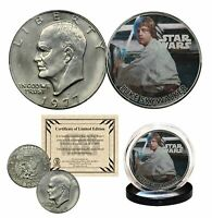 LUKE SKYWALKER - STAR WARS Officially Licensed 1977 Eisenhower IKE Dollar Coin