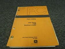 John Deere 710B Backhoe Loader Parts Catalog Manual PC1845
