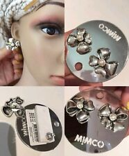 Mimco Bow $59.95 Silver Stud Earrings Brand New + Dust Bag