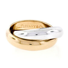 Tiffany & Co. Picasso Melody 18k Rose & White Gold Interlocking Two Band Ring