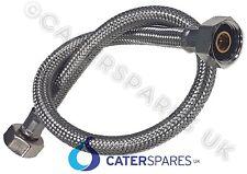 """1/2"""" BSP flessibile acciaio inossidabile intrecciato tubo dell'acqua di alimentazione lungo 1 metri di lunghezza"""