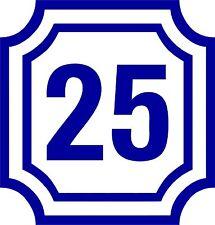 Aufkleber Sticker Tattoo- 2 Zahlen / Ziffern in 10cm Höhe mit Rahmen-Artikel 571