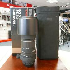 Used Sigma APO DG 170-500mm f5-6.3 - PAF - 1 YEAR GTEE