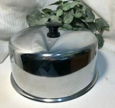Stainless Steel Food/cake Storage Cover/Dome, Black Handle, Heavy Metal