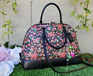 Coach SIERRA SATCHEL POSEY CLUSTER FLORAL satchel dome handbag purse F57622 bag
