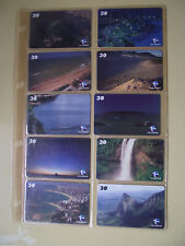TOURIST POINTS ESPIRITO SANTO Complete Set 10 Different Phone Cards from Brazil