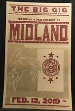 2019 Hatch Show Print Poster CMHOF Midland - The Big Gig Concert  Feb. 12, 2019